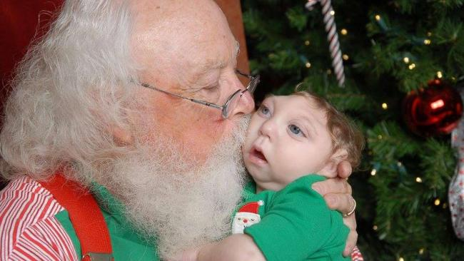 Weihnachtsbaumschmuck   Babyhand Abdruck Weihnachtsmann